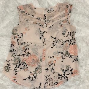 Candie's Women's Flower Top/Blouse size s
